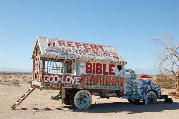 Salvation Mountain, photography by David J. Thompson