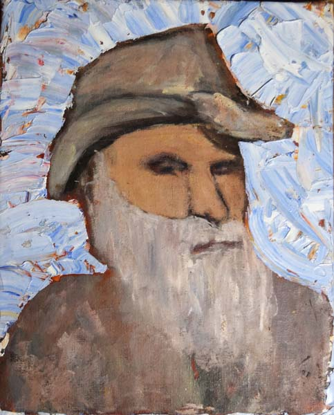 Folk Man Oil Painting by David Michael Jackson