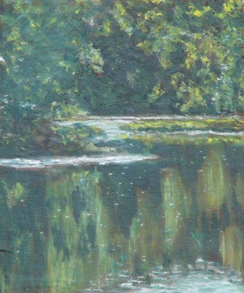 Stones River, Oil Painting by David Michael Jackson