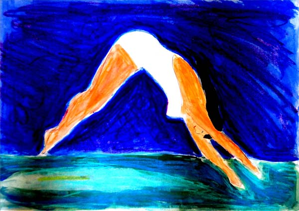 Diving Girl 0070, art by David Russell