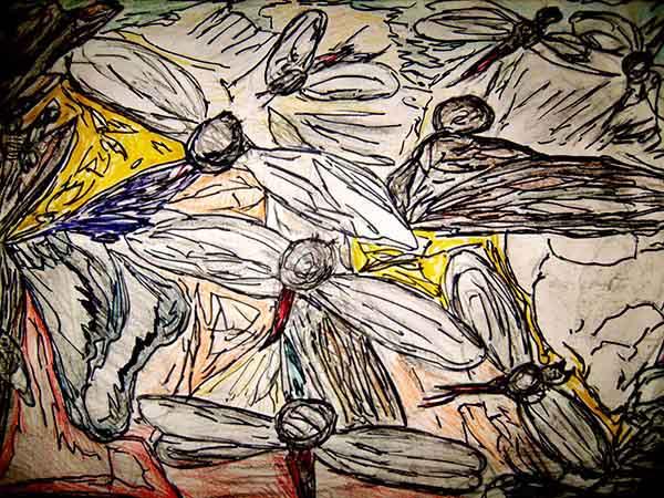 Flies, art by David Russell