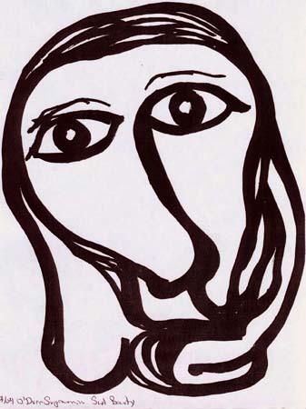 Sad Beauty, art by Edward Michael O'Durr Supranowicz