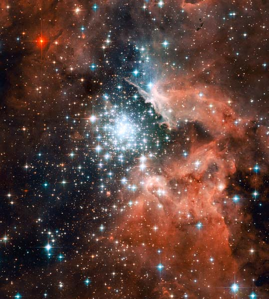 Star Cluster Bursts, image from NASA and the Hubble Telescope