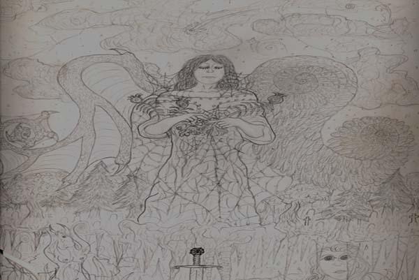 Torn Angel, art by Wes Heine