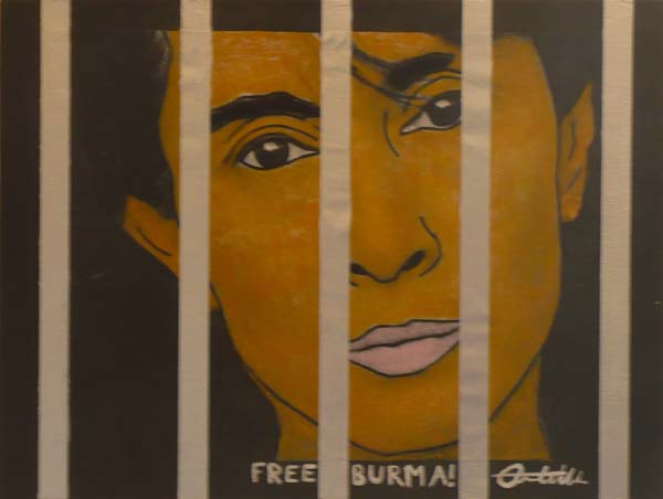 Free Burma!, art by Aaon Wilder