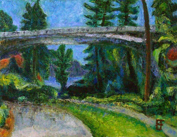Bellevue Meydenbauer Bridge Park, oil on canvas by Brian Forrest