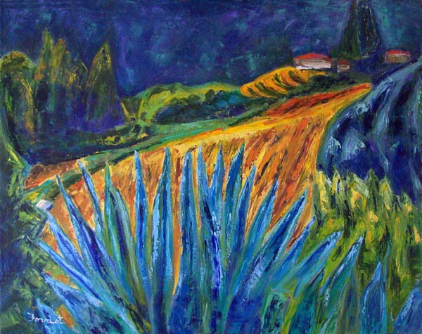 agave and view, painting by Brian Forrest