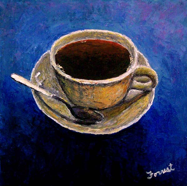 Coffee Cup, painting by Brian Forrest