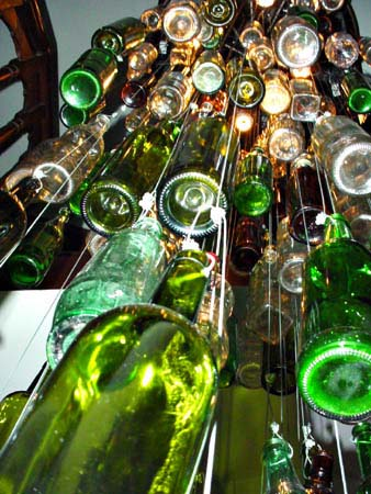 hanging bottles on display at a bar in Shanghai, Chine, copyright © 2005 - 2012 Janet Kuypers