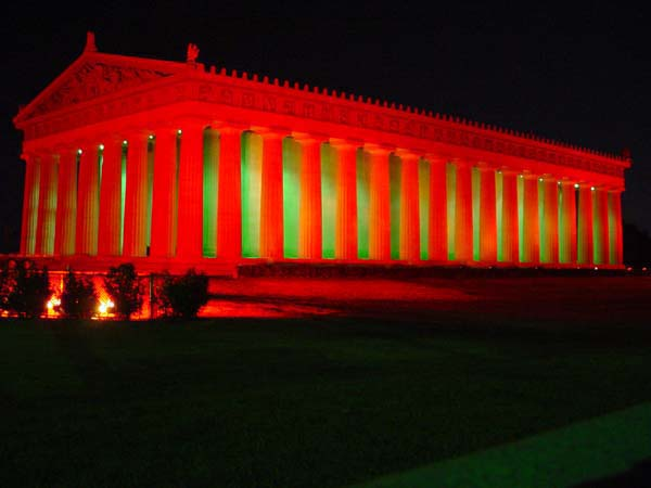 a life-sized replica of the Parthenon