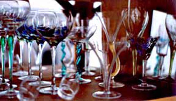 a variety of pieces of glassware, photographed by Janet Kuypers