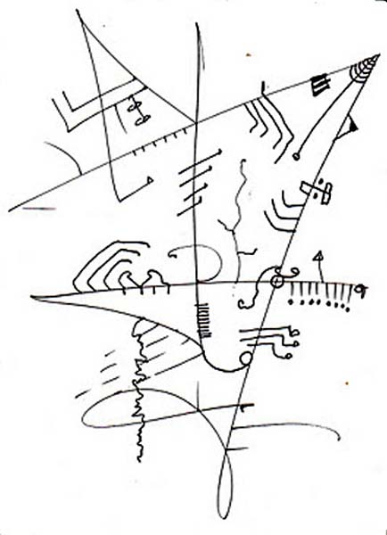 Kite, drawing by the HA!man of South Africa