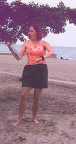 Beach Poets, under tree