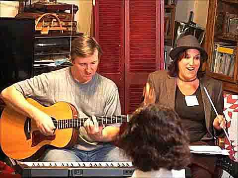 Janet & John in show, Sony video still
